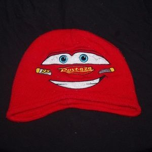 Disney Cars Lightning McQueen Knit Beanie Hat
